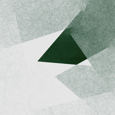green and white abstract drawing