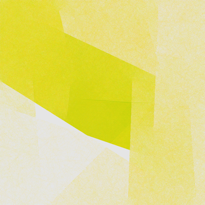 yellow and white abstract drawing